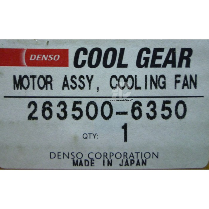 DENSO COOLGEAR RADIATOR MOTOR - 263500-6350 PERODUA KELISA