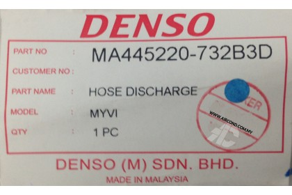 Perodua Myvi 1.3L Aircond Discharge Hose DENSO MA445220-73203D